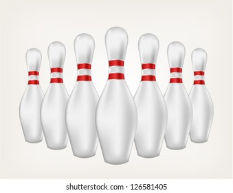 Bowling. Style vector
