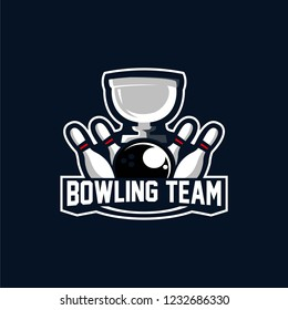 Bowling Team Logo Sports