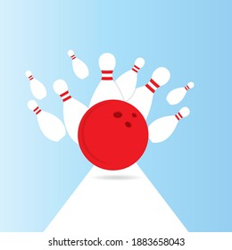 Bowling vector template icon design