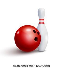 bowling club poster ball bowling pins stock vector royalty free