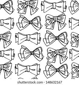 Bows seamless pattern
