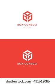 Box consult logo template.