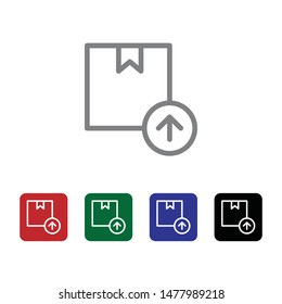 Box, delivery, upload, arrow up vector icon . Simple element illustration from UI concept. Box, delivery, upload, arrow up vector icon . Cargo Icon Vector Illustration