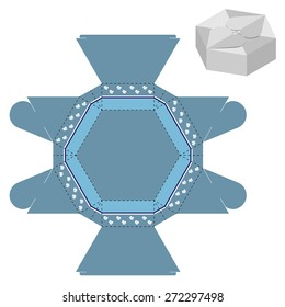 Box design, die-stamping, folding, ready no glue