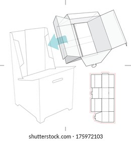 Similar images stock photos vectors of product display box box for display stand with blueprint layout malvernweather Images