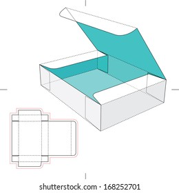 Box with Flip Lid and Blueprint Layout