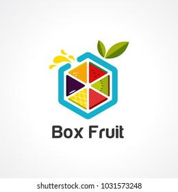 box fruit logo vector, icon, element, and template for business