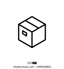 Box icon, design inspiration vector template for interface and any purpose