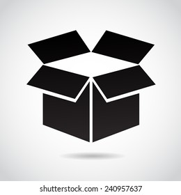 Box icon isolated on white background. Vector icon.