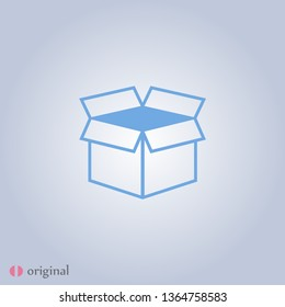 Box icon  in modern linear style. High quality black outline image for web site design and mobile apps. Boxing vector illustration on a white background.