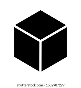 Box icon on white background.  Isolated vector sign symbol.