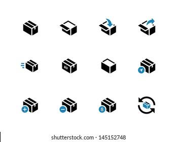 Box Icons on white background. Vector illustration.