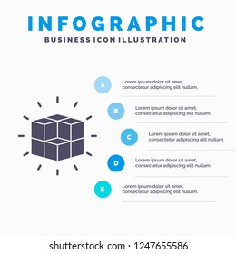 box, labyrinth, puzzle, solution, cube Infographics Template for Website and Presentation. GLyph Gray icon with Blue infographic style vector illustration.
