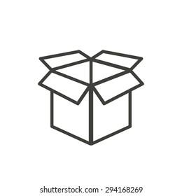 Box  line icon  on white background. Vector illustration.