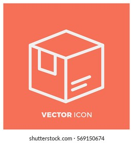 box line vector icon