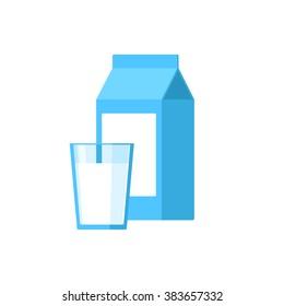 Box milk glass