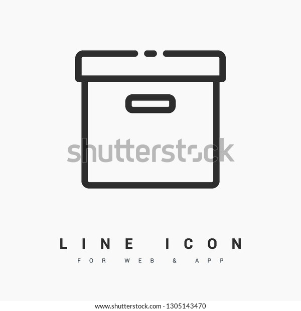 Box Minimal Icon Pack Line Vector Stock Vector (Royalty Free