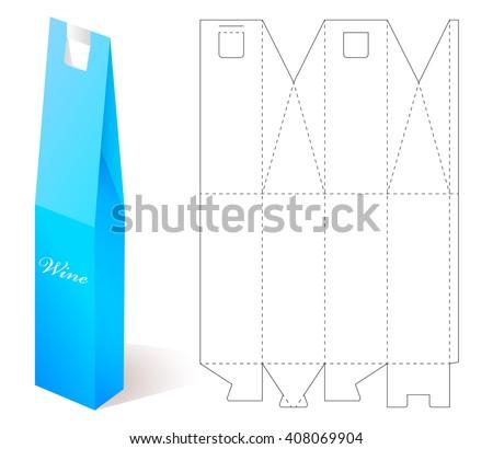 Box Mock Up Wine Paper Blueprint Stock Vector (Royalty Free ...