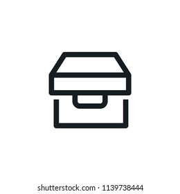Box Modern Simple Outline Vector Icon