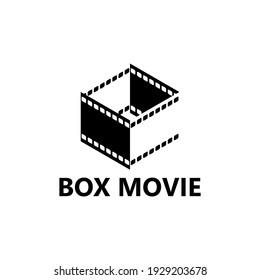 box movie logo template design