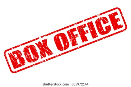 BOX OFFICE red stamp text on white