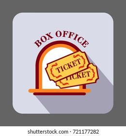 Box office ticket concept background. Cartoon illustration of box office ticket vector concept background for web design