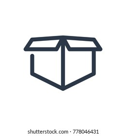 Box package icon. Isolated carton and box package icon line style. Premium quality vector symbol drawing concept for your logo web mobile app UI design.