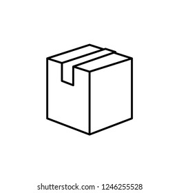 Box Package Icon Vector Template.