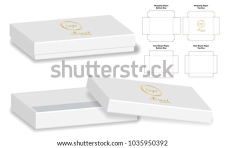 box packaging die cut template design のベクター画像素材