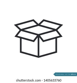 Box Packaging Icon Vector Template Flat Design