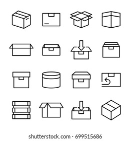 Box And Packaging Related Vector Icon