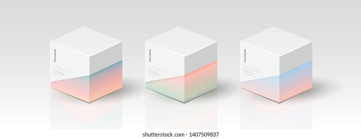 Box, packaging template for product vector design illustration. - Vector