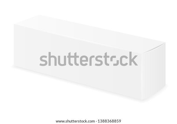 Box Packaging Toothpaste Empty Template Design Stock Vector Royalty Free 1388368859