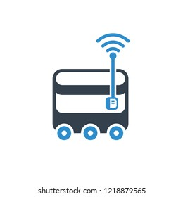 box robot delivery product icon on white background