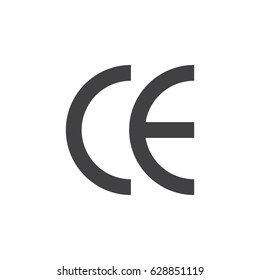 Box Sign icon on the white background. Environmental protection. Reach compliance. Sign EU, CE