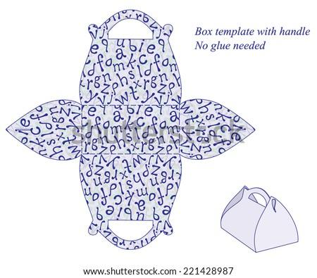 box template alphabet pattern stock vector royalty free 221428987