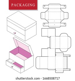 Box template design for product.