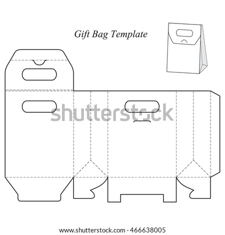 Box Template With Lid Blank Vector Illustration