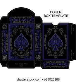 box template poker playing card