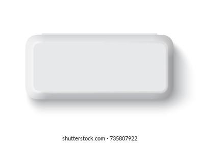 box tray mock up vector template