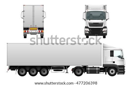 box truck vector mock advertising corporate のベクター画像素材