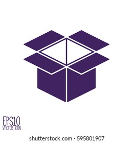 Box vector icon. Flat style for graphic and web design, Modern simple vector sign. Internet concept. Trendy symbol for website design web button, mobile app.