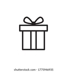 box vector icon, gift box icon in trendy flat style