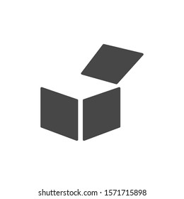 Box vector icon or logo in modern line style. vector icon High quality black outline pictogram for website design and mobile apps vector icon. Vector illustration on a background.