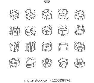 Box Well-crafted Pixel Perfect Vector Thin Line Icons 30 2x Grid for Web Graphics and Apps. Simple Minimal Pictogram