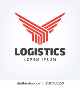 box with wings logistics logo