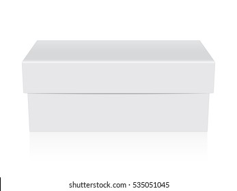 Box for your corporate identity. Easy to change colors. Mock Up. Vector Template