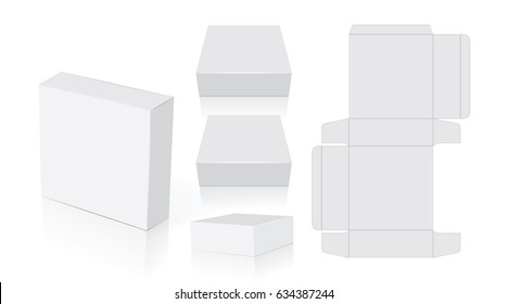 Box for your design and logo. Easy to change colors. Mock Up. Vector EPS10