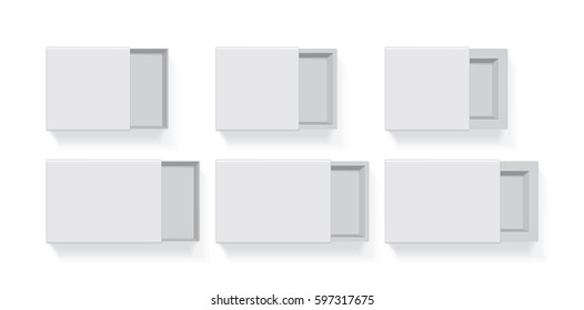 A box for your logo and design. It's easy to change colors. Mock Up. Vector Template