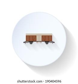 Boxcar flat icon